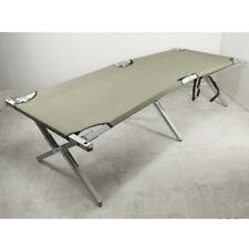 BRITISH ARMY FOLDING CAMP BED HEAVY DUTY ALUMINIUM FRAME US STYLE CAMP COT