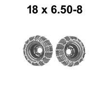 18 X 6.50 - 8  Schneeketten für Rasenmäher Rasentraktor  Aufsitzmäher 18x6.50-8