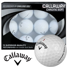 Callaway Chrome Soft GOLF BALLS Refurbished GRADE AA  FREE P&P  One Dozen