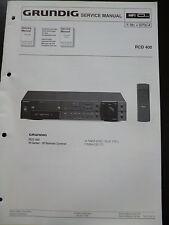 Original Service Manual  Grundig RCD 400
