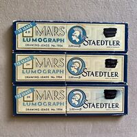 Vintage Staedtler Mars Lumograph Drawing Leads No 1904 Germany 3H & 4H 35 leads