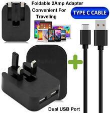 Enchufe de pared plegable doble USB Cargador Cable De Datos Tipo Xperia L1/XA1/C XA1 Ultra