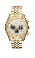 Michael Kors Men's MK8494 44MM Lexington Chronograph Crystal Pave Dial Gold-Tone
