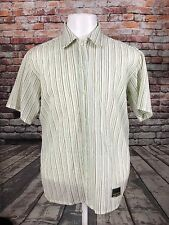 ONEIL MEN'S COTTON IVORY CASUAL STRIPED SHIRT SIZE SMALL