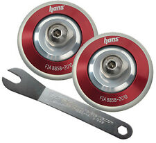 Helmet Hans/Hybrid Posts Clips With Spanner Pair M6 Thread Race Rally Car Red