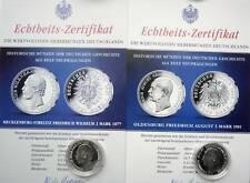 2 x Silber Fr.-Wilh.Grossherzog von Oldenburg & Fr.August v.Mecklenburg-Strelitz