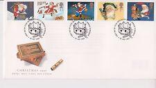 Risolte GB Royal mail FDC 1997 Christmas Cracker Stamp Set Bureau PMK