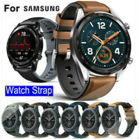Silicone/Leather Watch Band Strap For Samsung Galaxy Watch 46mm Gear S3 Frontier