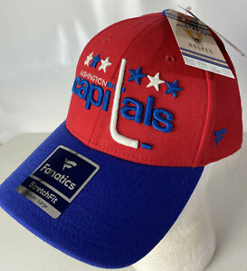 Washington Capitals Hat Cap Vintage Hockey Retro Logo Spellout Stretch M/L NEW