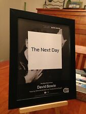 "3 Framed Original David Bowie ""The Next Day"" Lp Album Cd Promo Ads"