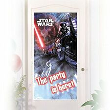 Procos 85219 – Decoración puerta Star Wars Darth Vader 150 X 75 cm Negro/rojo