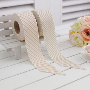 14yds Bias Tape Anna Washed Cotton trim 40mm Stripe bias single fold