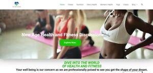 Established Clickbank Affiliate Health Website 1000 Health Products
