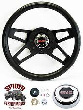 "1974-1994 GMC pickup steering wheel 13 1/2"" BLACK 4 SPOKE"
