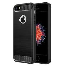 Apple iPhone 5 SE Handyhülle Carbon Silikon Schutz Handy Cover Hülle Tasche Case
