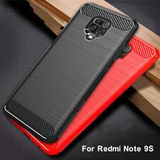 Luxury Carbon Fiber Soft Silicone Case Cover For Xiaomi Redmi Note 9S 9 Pro Max