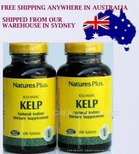 2 Bottles Natures Plus Icelandic Kelp Natural Iodine Supplement Total 600 Tablet