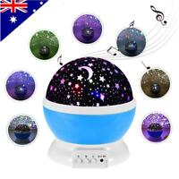 Star Moon Sky Starry Night Projector Light Lamp With Music For Kids Baby Bedroom
