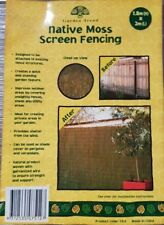 Native Moss Screen Fencing Roll Fence 1.8M(H)x3m(W) Privacy Blockout