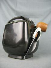 Vintage pot à tabac en céramique style Hermès - Pot à pipe
