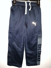 NEW! PUMA LITTLE'S BOYS ATHLETIC SWEAT PANTS Size 5 NAVY BLUE, 2 pockets