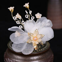 Women's Bridal Wedding Pearls Flower Hair Barrette Clips Pins Accessories Gifts