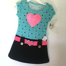 Piper Baby Toddler Girls Blue Top With Headband Size 2T 3T 4T 5T $9.99