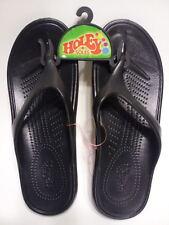 Holeys Soles Summer Sandals FLIP FLOPS Drifter BLACK Women 7 Men 5