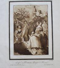 1780 Etching Aquatint after FRANCIABIGIO by MARIA CATHARINA PRESTEL large