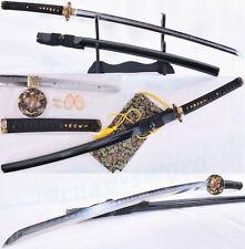 Clay Tempered Folded Steel Blade Drago Tsuba Japanese Samurai Sword Katana SHARP