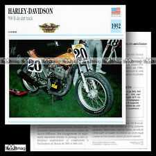 #032.08 HARLEY-DAVIDSON 500 R DIRT-TRACK 1990's Fiche Moto Motorcycle Card