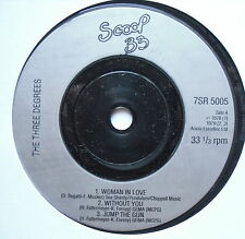 """THREE DEGREES - Woman In Love - Excellent Con 7"""" Single Scoop 33 7SR 5005"""