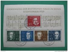 N - BLOC 8 septembre 1959 - EINWEIHUNG DER BEETHOVEN-HALLE ZU BONN