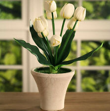 Faux Tulips in Pot Home Decor Gift 31cms BRAND NEW