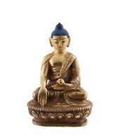 Soprammobile Tibetano Da Budda Akshobhya Rame 8.1 CM Nepal Bodhisattva AFR8-3253