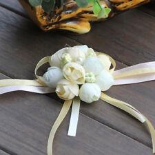 Foam Silk Rose Bridal Bridesmaid Wrist Corsage Hand flowers Wedding Accessories