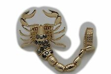 Big Scorpion One Size Animal Jazzy Women Gold Slave Ring Metal Groovy Fashion