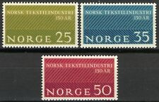 Norway 1963, Norwegian textile industry, 150th anniv MNH Sc 443-45