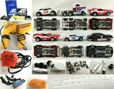 Lot of Assorted Aurora Afx Slot Cars Accessories Controllers and Other Parts