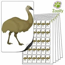 480 Emu Stickers (38 x 21mm) Quality Self Adhesive Animal Labels By Zooify.