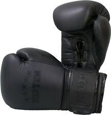 Boxhandschuhe TOP TEN Black N´Black, 10-16OZ,  Kickboxen, MuayThai, Boxen, MMA