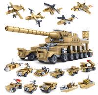 16in1 Militär Panzer Tank Modell Bausteine mit WW2 Soldat Figuren Spielzeug Toys
