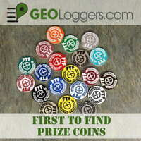 *NEW* 10 x FTF First to Find Geocache Prize Tokens / Coins Laser Cut 3 Sizes!