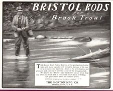 Antique Ad Bristol Steel Fishing Rod for Brook Trout Horton Mfg.  Bristol Conn