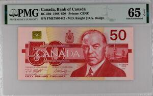 CANADA  1988  50 Dollars P 59 d UNC PMG 65 EPQ