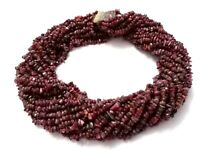 """1 Strand Natural Ruby Smooth Chips Nuggets 3-5mm Gemstone Loose Beads 34""""inch"""