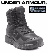 NEW Under Armour UA Men's Black VALSETZ 1.5 Tactical Side Zip Boots - 3021036