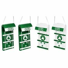 Boston Celtics Toboggan Holiday Christmas Tree Ornaments 4 pack NEW NBA