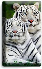 WILD WHITE BENGAL TIGERS PHONE JACK TELEPHONE COVER WALL PLATE ROOM HOME DECOR