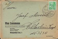 KLINGENTHAL, Briefumschlag 1957, Max Lausmann Musik-Instrumente Geige Harfe